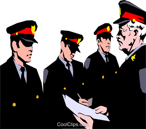 Policemen Royalty Free Vector Clip Art illustration peop0872