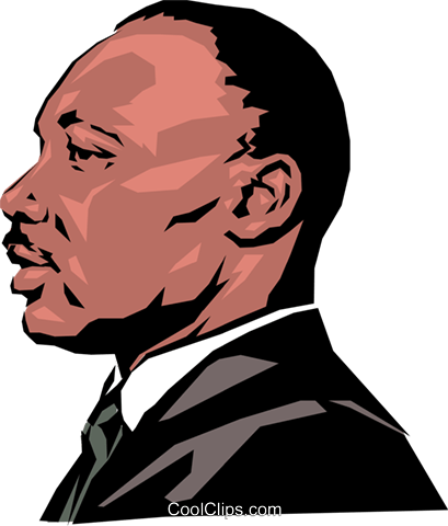 Martin Luther King Royalty Free Vector Clip Art illustration peop0886
