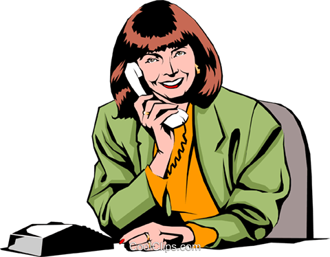 Woman on phone Royalty Free Vector Clip Art illustration peop0888