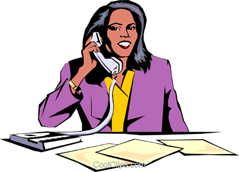 Woman on phone Royalty Free Vector Clip Art illustration peop0890