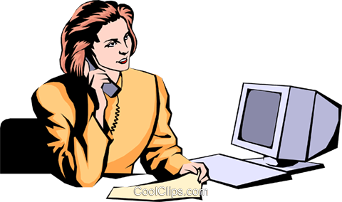 Woman on phone Royalty Free Vector Clip Art illustration peop0897