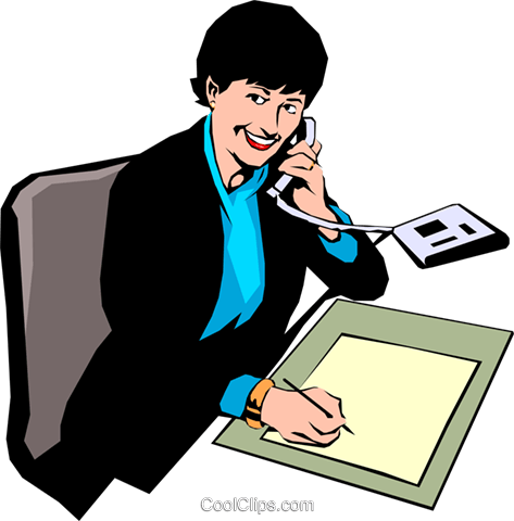 Woman on phone Royalty Free Vector Clip Art illustration peop0902