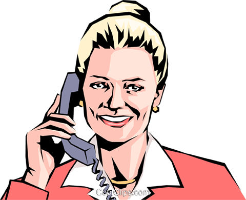 Woman on phone Royalty Free Vector Clip Art illustration peop0906