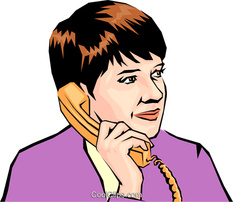 Woman on phone Royalty Free Vector Clip Art illustration peop0917