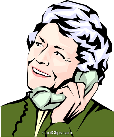 Woman on phone Royalty Free Vector Clip Art illustration peop0918