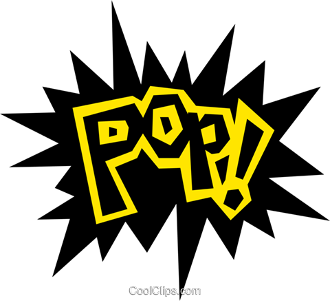 Pop! Royalty Free Vector Clip Art illustration text0473