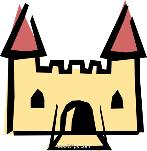 Castle Royalty Free Vector Clip Art illustration arch0168