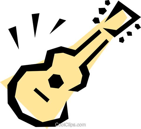 Guitar symbol Royalty Free Vector Clip Art illustration arts0102
