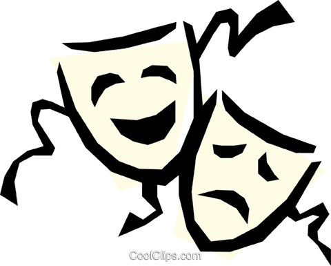 Theatre masks Royalty Free Vector Clip Art illustration arts0106