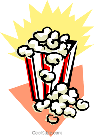 Popcorn Royalty Free Vector Clip Art illustration arts0108