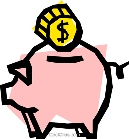 Piggy banks Royalty Free Vector Clip Art illustration busi0246