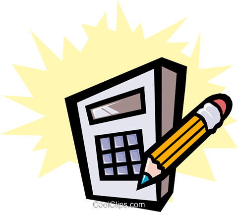 Calculator Royalty Free Vector Clip Art illustration busi0660