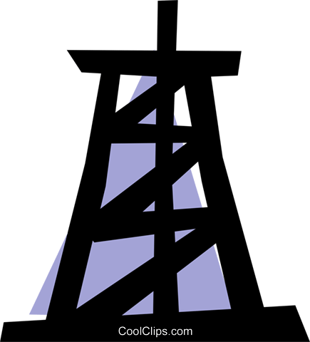 Oil well Royalty Free Vector Clip Art illustration envi0048