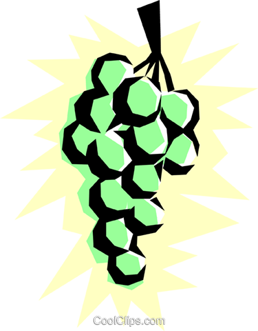 Grapes Royalty Free Vector Clip Art illustration food0061