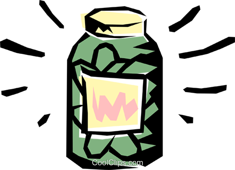 Pickle jar Royalty Free Vector Clip Art illustration food0063