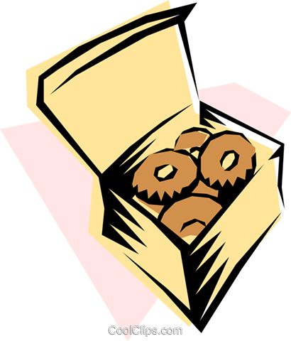 Doughnuts Royalty Free Vector Clip Art illustration food0064