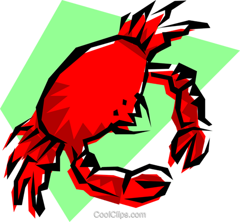 Crabs Royalty Free Vector Clip Art illustration food0071