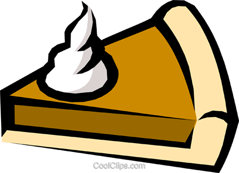 Pumpkin pie Royalty Free Vector Clip Art illustration food0282