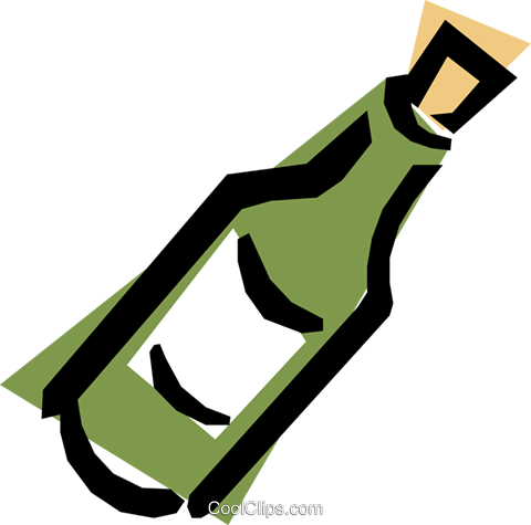 Wine bottles Royalty Free Vector Clip Art illustration food0305