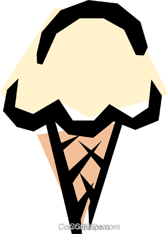 Ice cream cone Royalty Free Vector Clip Art illustration food0312