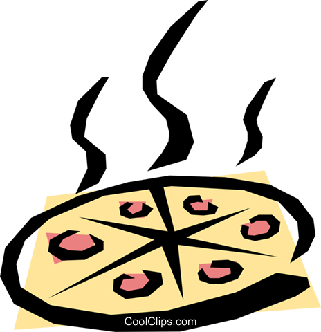 Pizza Royalty Free Vector Clip Art illustration food0317