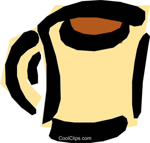 Cup of coffee Royalty Free Vector Clip Art illustration food0463