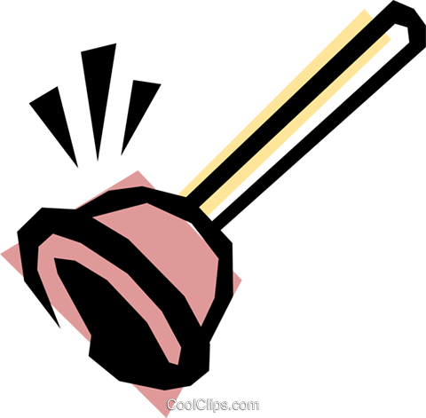Plunger Royalty Free Vector Clip Art illustration hous0248