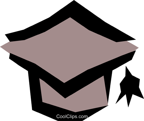 Graduation cap Royalty Free Vector Clip Art illustration hous0535