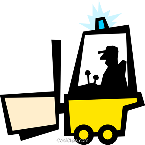 Forklift Royalty Free Vector Clip Art illustration indu0304