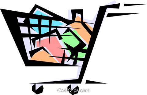 Shopping carts Royalty Free Vector Clip Art illustration indu0366