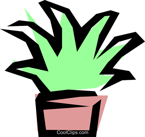 Plants Royalty Free Vector Clip Art illustration natu0179