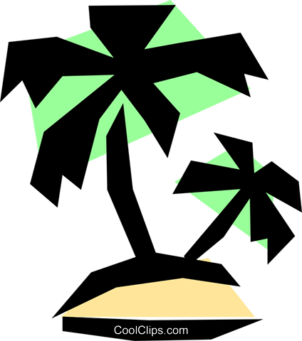 Tropical island Royalty Free Vector Clip Art illustration natu0180