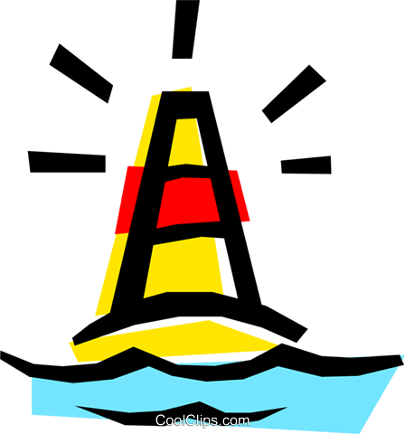 Channel buoy Royalty Free Vector Clip Art illustration tran0299