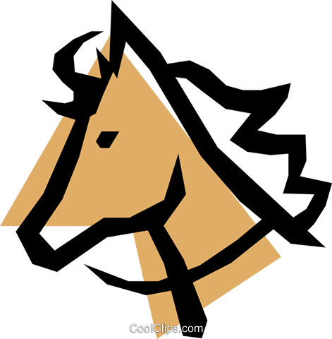 Horse Royalty Free Vector Clip Art illustration anim0528