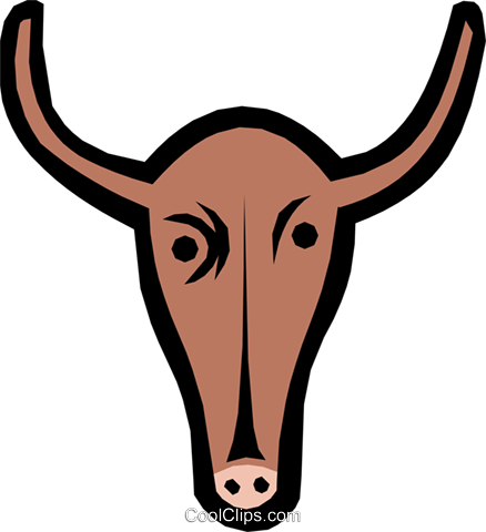 Cow Royalty Free Vector Clip Art illustration anim1006