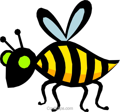 Bee Royalty Free Vector Clip Art illustration anim1019