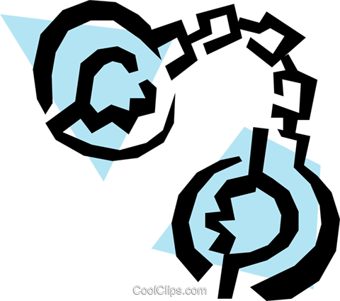Handcuffs Royalty Free Vector Clip Art illustration busi0241