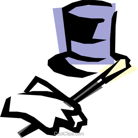 Top hat & gloves Royalty Free Vector Clip Art illustration hous0222
