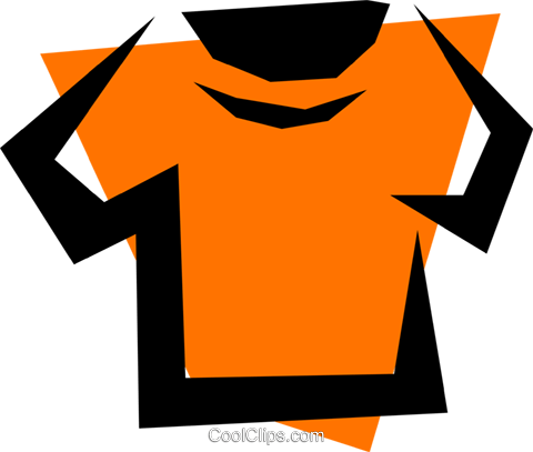 T-shirt Royalty Free Vector Clip Art illustration hous0223