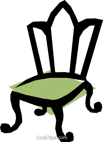 Chairs Royalty Free Vector Clip Art illustration hous0234