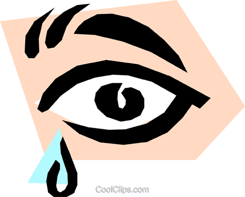 tears Royalty Free Vector Clip Art illustration medi0148