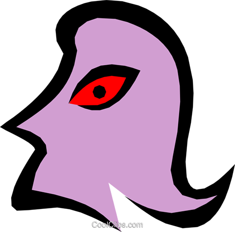 Weird face Royalty Free Vector Clip Art illustration peop1374