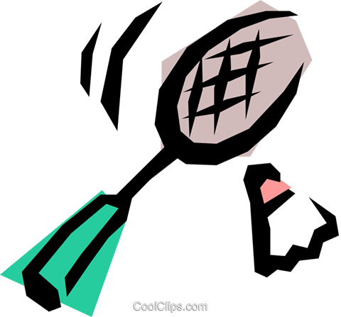 Badminton Royalty Free Vector Clip Art illustration spor0079