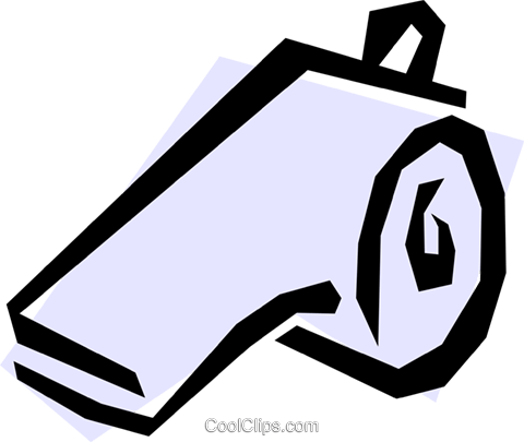 Whistle Royalty Free Vector Clip Art illustration spor0080