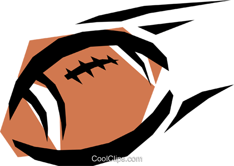 Football Royalty Free Vector Clip Art illustration spor0081