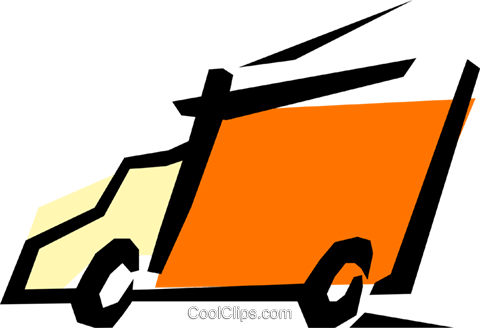Truck Royalty Free Vector Clip Art illustration tran0293