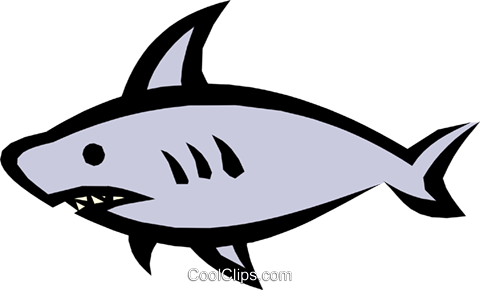 Sharks Royalty Free Vector Clip Art illustration anim0508