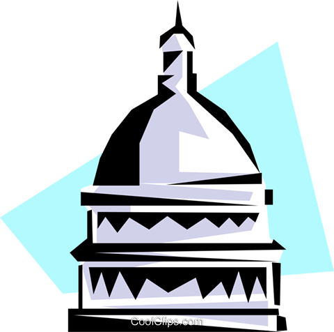 Capitol building Royalty Free Vector Clip Art illustration arch0167