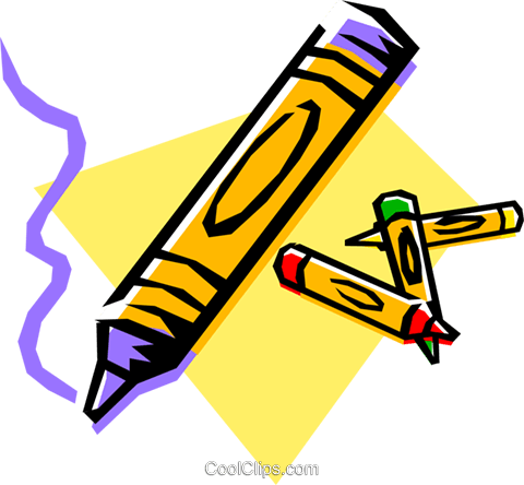 Cartoon crayons Royalty Free Vector Clip Art illustration arts0097