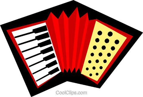 Accordions Royalty Free Vector Clip Art illustration arts0214